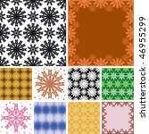 set of abstract floral seamless ... | Shutterstock .eps vector #46955299