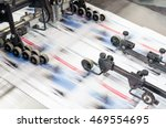 Offset Printing Machine In Work