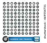 set of 100 icons business and... | Shutterstock .eps vector #469554731