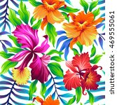 seamless exotic pattern with... | Shutterstock .eps vector #469555061