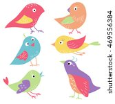 cute birds. | Shutterstock .eps vector #469556384