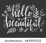 hello beautiful   vector...   Shutterstock .eps vector #469559231
