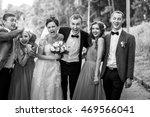 newlyweds with groomsmen  ... | Shutterstock . vector #469566041