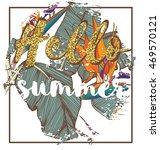 tropical exotic summer print...   Shutterstock .eps vector #469570121