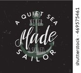 vintage retro styled nautical... | Shutterstock .eps vector #469575461