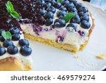 blueberry pie   Shutterstock . vector #469579274