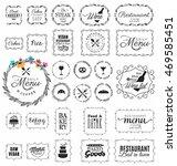 vintage restaurant  menu and... | Shutterstock .eps vector #469585451