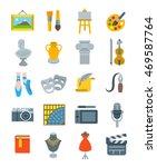 art and crafts flat vector... | Shutterstock .eps vector #469587764