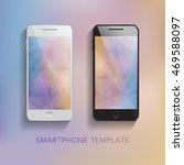 set of mobile phones blurred...