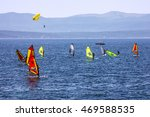Windsurfing On Adriatic Sea ...