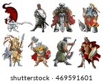 knights and warriors of... | Shutterstock .eps vector #469591601