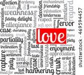 words of love. emotions ... | Shutterstock .eps vector #469594457