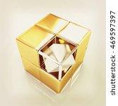 3d abstract background . 3d... | Shutterstock . vector #469597397