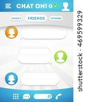 vector chat box with speech...