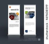 vector set of modern roll up... | Shutterstock .eps vector #469608599
