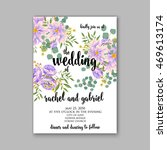 wedding invitation or card with ... | Shutterstock .eps vector #469613174