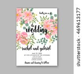 wedding invitation or card with ... | Shutterstock .eps vector #469613177