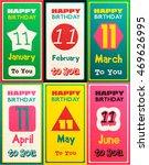 greeting happy birthday card ... | Shutterstock .eps vector #469626995