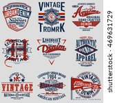 set of vintage typography  t... | Shutterstock .eps vector #469631729