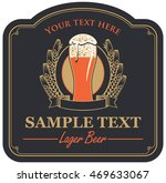 beer label with a glass and a... | Shutterstock .eps vector #469633067