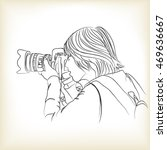 a photographer takes photo ... | Shutterstock .eps vector #469636667