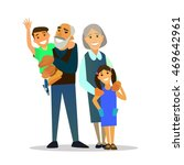grandparents with their... | Shutterstock .eps vector #469642961