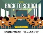 preparing tests and exams.... | Shutterstock .eps vector #469655849