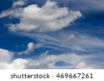 Small photo of Picturesque middle level stratocumulous and altostratus with low stratus cloud formations on a hot sunny afternoon in summer are contrasted against the blue Australian sky.