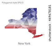 new york state map in geometric ... | Shutterstock .eps vector #469678181