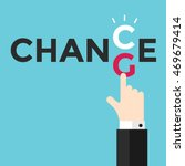change and chance. hand... | Shutterstock .eps vector #469679414