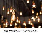 vintage style light bulbs... | Shutterstock . vector #469683551