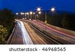 night city street - stock photo