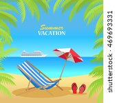 summer vacation concept banner. ... | Shutterstock . vector #469693331