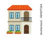 house modern residential real...   Shutterstock .eps vector #469697264
