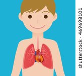 human heart and lungs ... | Shutterstock .eps vector #469698101