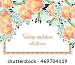vintage delicate invitation... | Shutterstock .eps vector #469704119
