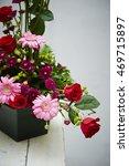 flower arrangements  | Shutterstock . vector #469715897
