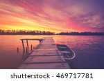 marina on the lake  boats... | Shutterstock . vector #469717781
