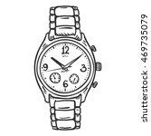 vector sketch classic  mens... | Shutterstock .eps vector #469735079