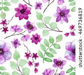 watercolor violet and purple... | Shutterstock . vector #469736819