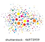 Disco Lights Dots Pattern On...
