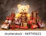 homemade teddy bear and a lot... | Shutterstock . vector #469745621