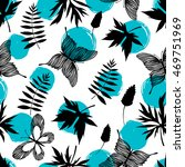 seamless pattern with hand... | Shutterstock .eps vector #469751969