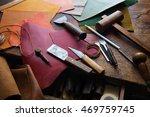 leathersmith's work desk .... | Shutterstock . vector #469759745