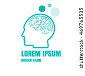 creative idea logo brain logo... | Shutterstock .eps vector #469765535