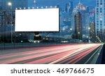 blank billboard on the highway... | Shutterstock . vector #469766675