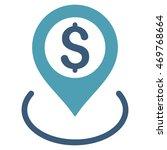 dollar location icon. vector... | Shutterstock .eps vector #469768664