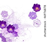 Stylized Beautiful Violet With...