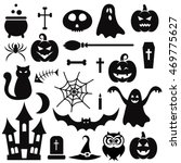 halloween icons isolated on... | Shutterstock .eps vector #469775627