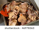 different boiled parts of pork... | Shutterstock . vector #46978363